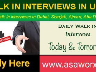 Walk in Interview in Dubai, Abu Dhabi, Sharjah & Ajman