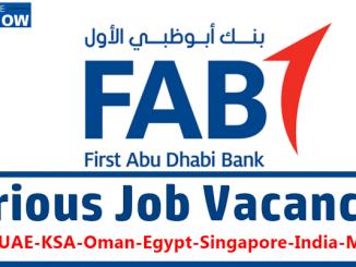FAB Bank Careers New Vacancies